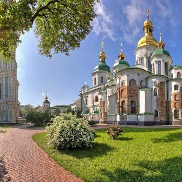 Impressive St Sophia's Cathedral near the heart of the Ukrainian capital city, Kyiv